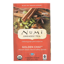 Load image into Gallery viewer, Numi Tea Golden Chai Black Tea - 18 Bags