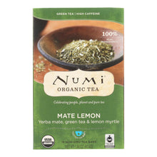 Load image into Gallery viewer, Numi Tea Mate Lemon Rainforest Green Tea - 18 Bags