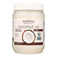Load image into Gallery viewer, Nutiva Organic Virgin Coconut Oil - 29 Oz