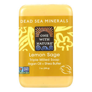 One With Nature Dead Sea Mineral Lemon Verbena Soap - 7 Oz One With Nature Bath And Body - Peach Ruby