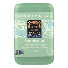 Load image into Gallery viewer, One With Nature Triple Milled Soap Bar - Eucalyptus - 7 Oz