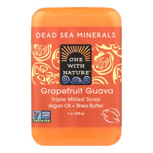 Load image into Gallery viewer, One With Nature Triple Milled Soap Bar - Grapefruit Guava - 7 Oz