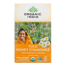 Load image into Gallery viewer, Organic India Tulsi Tea Honey Chamomile - 18 Tea Bags - Case Of 6