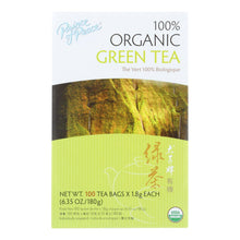 Load image into Gallery viewer, Prince Of Peace Organic Green Tea - 100 Tea Bags