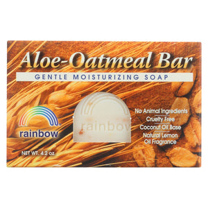 Rainbow Research Bar Soap Aloe Oatmeal - 4 Oz