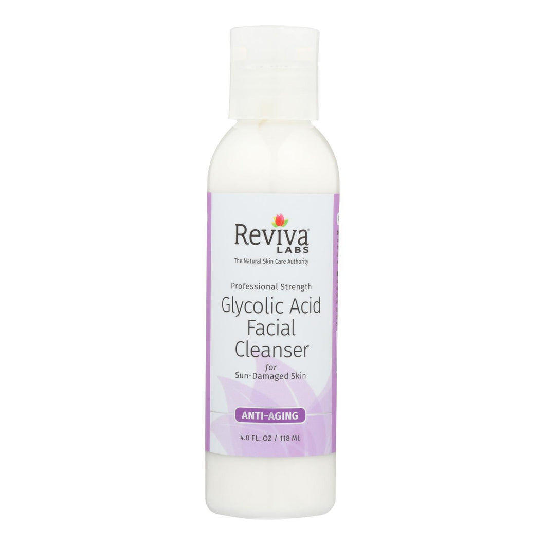 Reviva Labs - Glycolic Acid Facial Cleanser - 4 Fl Oz