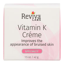 Load image into Gallery viewer, Reviva Labs - Vitamin K Cream - 1.5 Oz