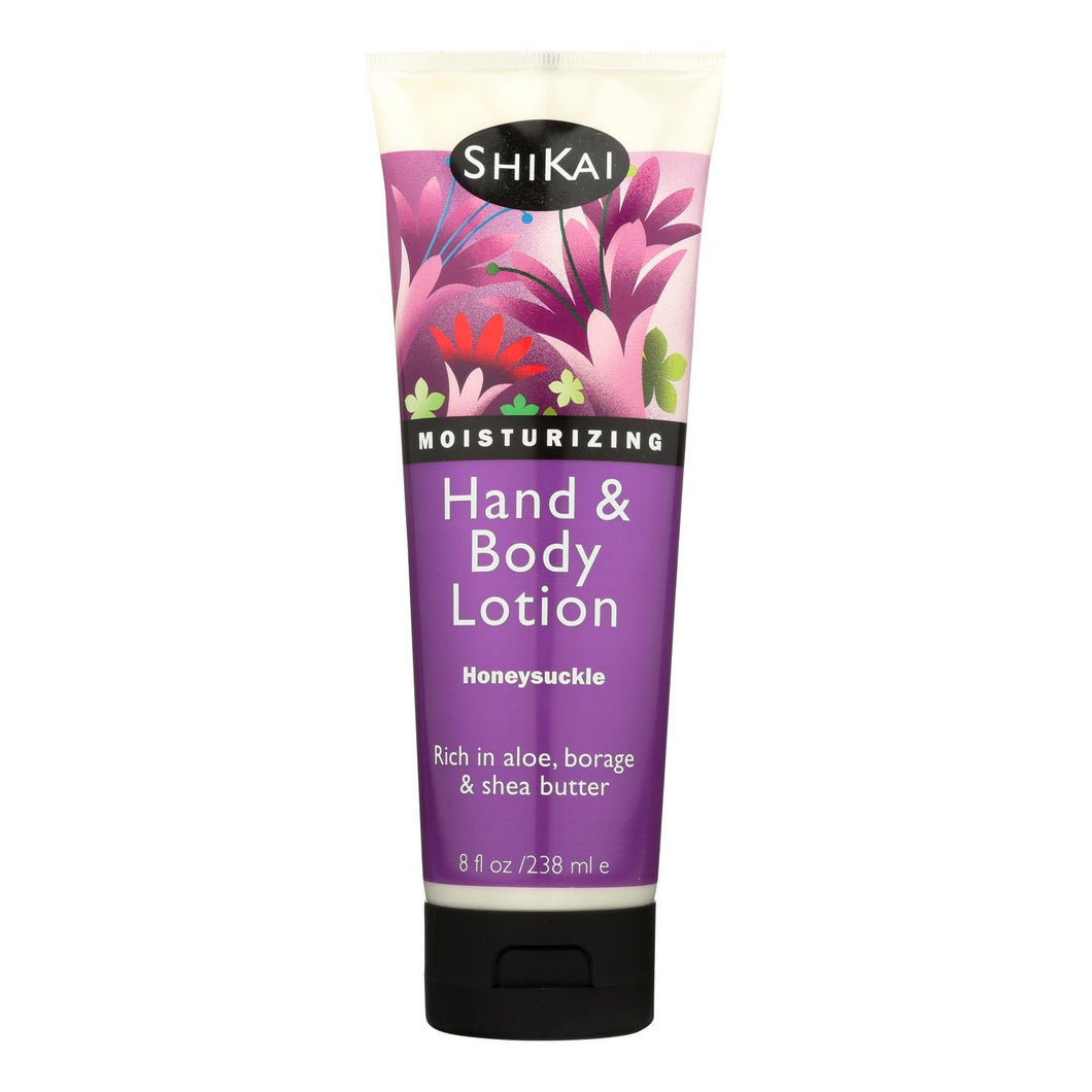 Shikai All Natural Hand And Body Lotion Honeysuckle - 8 Fl Oz