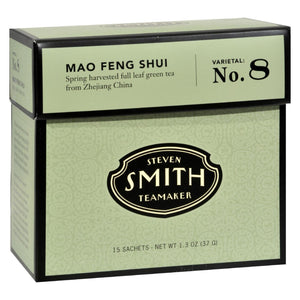 Smith Teamaker Green Tea - Mao Feng Shui - Case Of 6 - 15 Bags