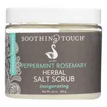 Load image into Gallery viewer, Soothing Touch Salt Scrub - Peppermint-rosemary - 20 Oz