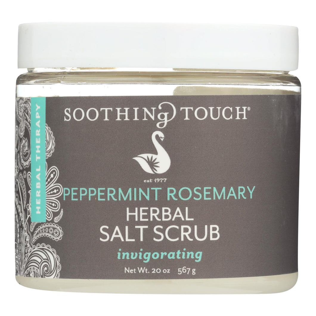 Soothing Touch Salt Scrub - Peppermint-rosemary - 20 Oz