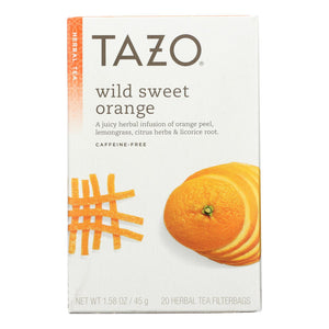 Tazo Tea Herbal Tea - Wild Sweet Orange - Case Of 6 - 20 Bag