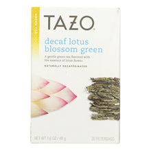 Load image into Gallery viewer, Tazo Tea Lotus Green Tea - Decaffeinated - Case Of 6 - 20 Bag