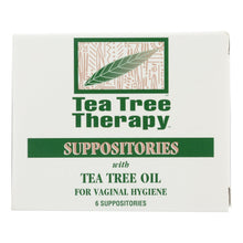 Load image into Gallery viewer, Tea Tree Therapy Vaginal Suppositories With Tea Tree Oil - 6 Suppositories