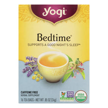 Load image into Gallery viewer, Yogi Bedtime Herbal Tea Caffeine Free Chamomile - 16 Tea Bags - Case Of 6