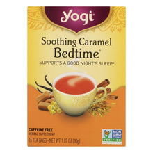 Load image into Gallery viewer, Yogi Bedtime Herbal Tea Caffeine Free Soothing Caramel - 16 Tea Bags - Case Of 6