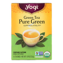Load image into Gallery viewer, Yogi Organic Pure Green Herbal Tea - 16 Tea Bags - Case Of 6