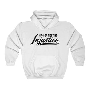 Hip Hop Fighting Injustice Hoodie - White/Black