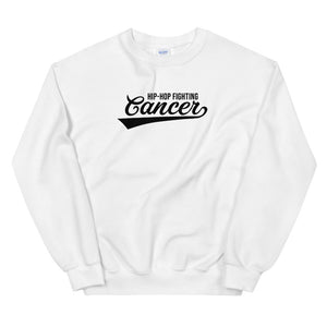 Hip Hop Fighting Cancer Sweatshirt - White/Black
