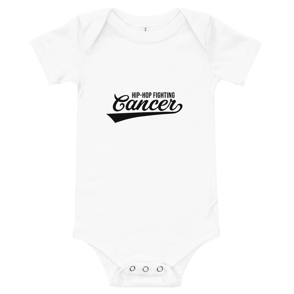 Hip Hop Fighting Cancer Onesie - White/Black