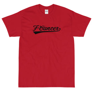F-Cancer T-Shirt - Cherry Red/White