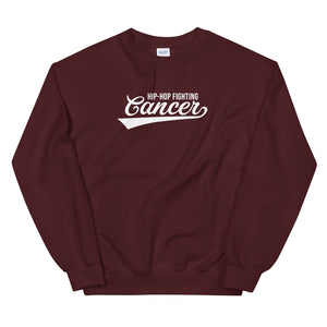 Hip Hop Fighting Cancer Sweatshirt - Maroon/White