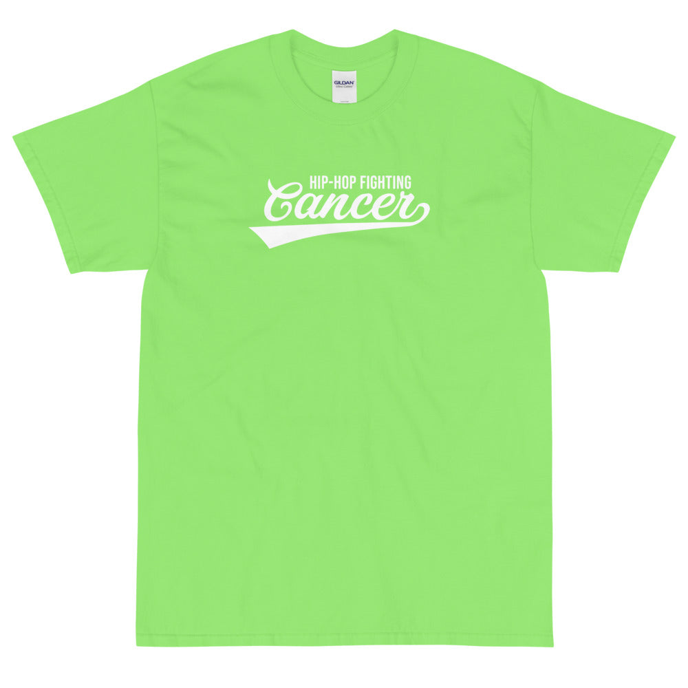 Hip Hop Fighting Cancer T-Shirt - Lime Green/White