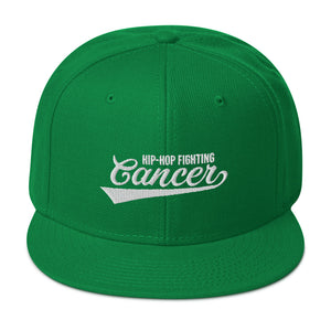Hip Hop Fighting Cancer Snapback Hat - Green/White