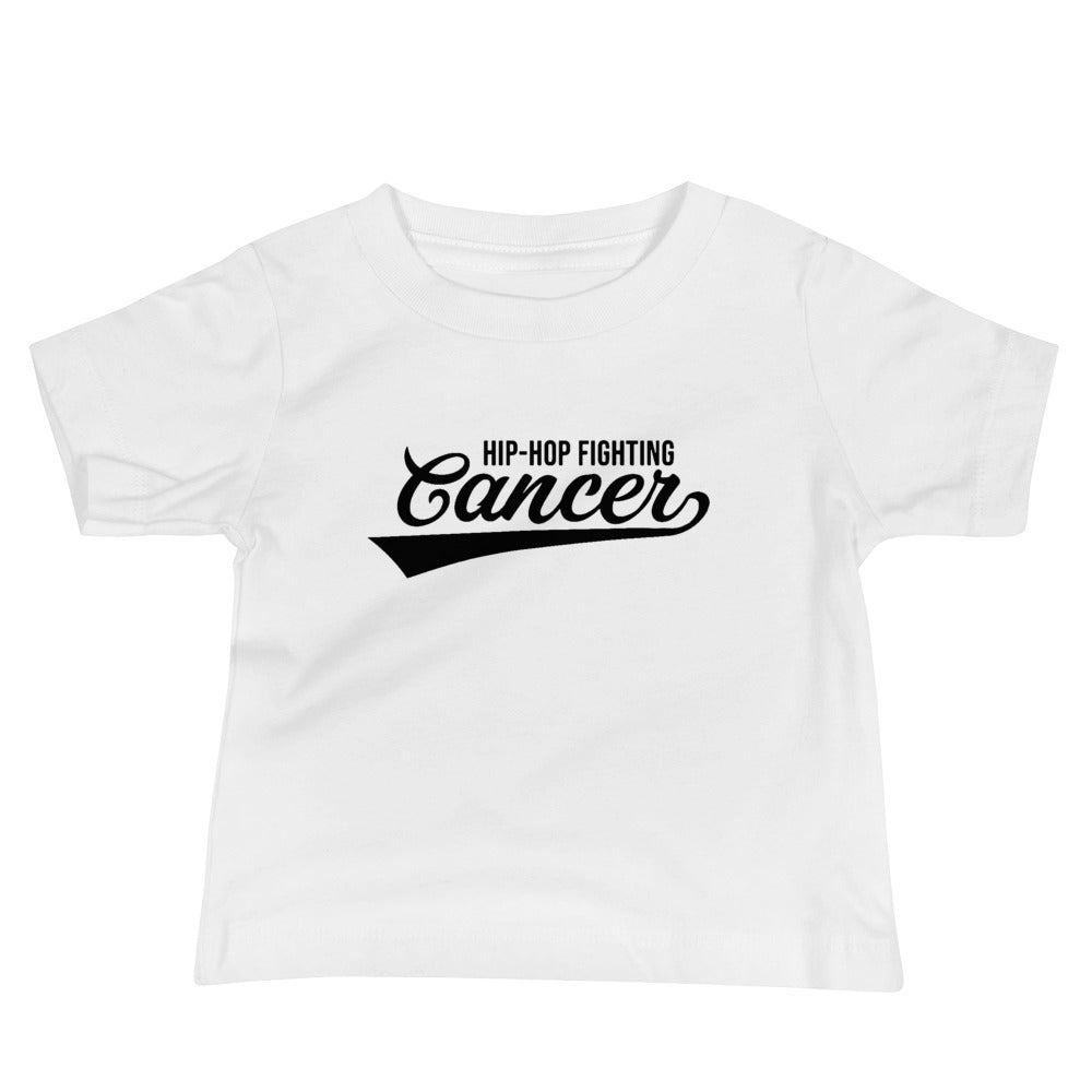 Hip Hop Fighting Cancer Baby T-Shirt - White/Black