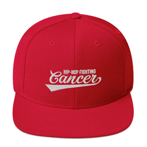 Hip Hop Fighting Cancer Snapback Hat - Red/White