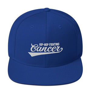 Hip Hop Fighting Cancer Snapback Hat - Royal Blue/White