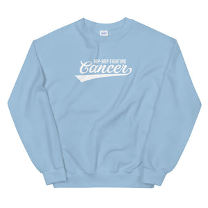 Hip Hop Fighting Cancer Sweatshirt - Light Blue/White