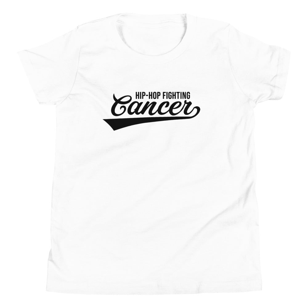Hip Hop Fighting Cancer Youth T-Shirt - White/Black