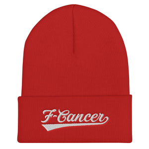 F-Cancer FC Cuffed Beanie - Red/White