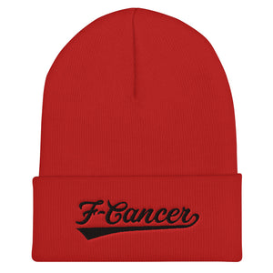 F-Cancer FC Cuffed Beanie - Red/Black
