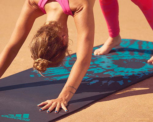 adidas Tie Dye mat - comfort and stability