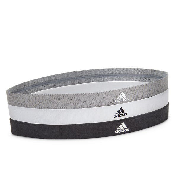 SPORTS HAIR BAND - BLACK/WHITE/GREY (3 PACK) - adidas fitness