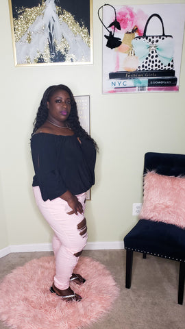 Pink Denim plus size