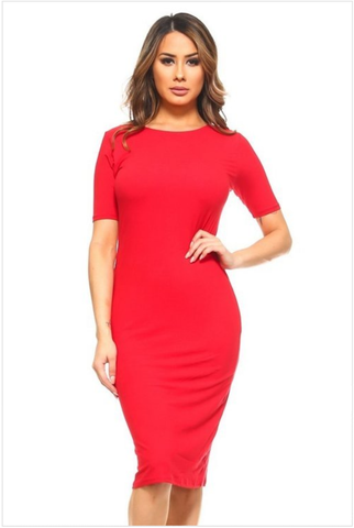 Midi Body-con Red Reg dress