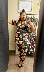 Simply roses Plus Size Jumpsuit