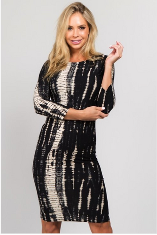 Black print dress reg