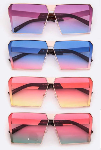 Geo Shaped Colorful Sunglasses