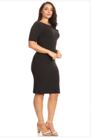 Black Bodycon dress plus