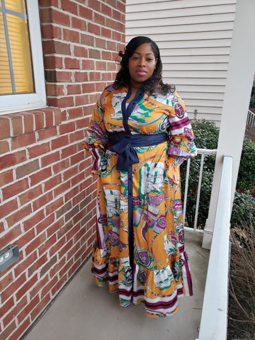 Mystical Plus Size Maxi Dress