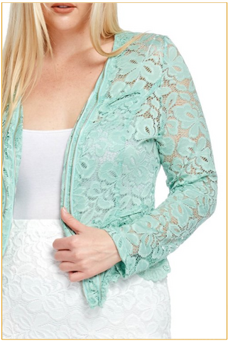 Green Lace Jacket