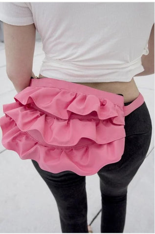Pink Ruffle Fanny Pack
