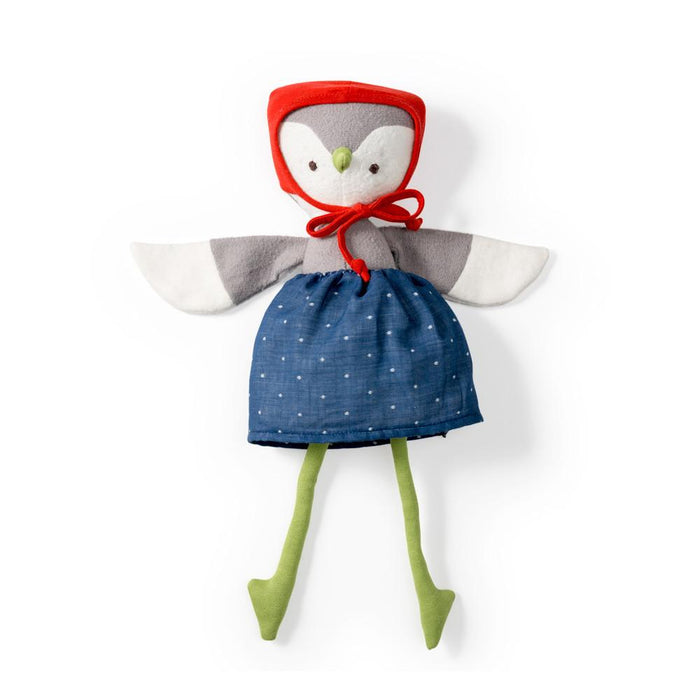 Hazel Village | Lucy Owl in Blue Skirt and Bonnet