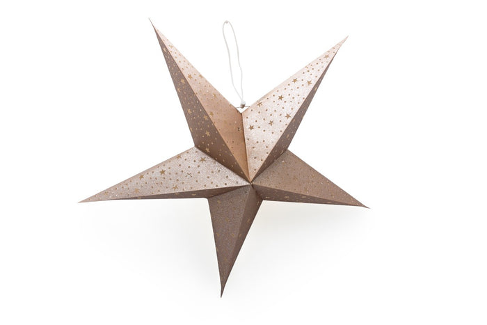 Recycled Paper Star Lantern | Gold