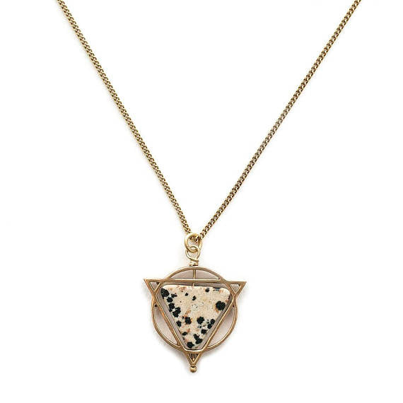Michelle Starbuck Designs | Dalmatian Jasper Elder Necklace