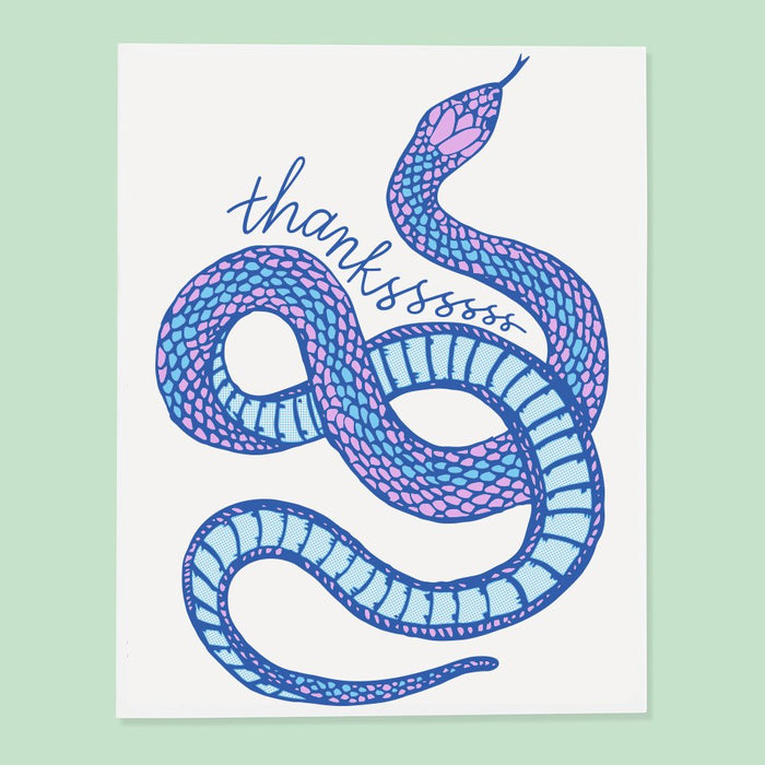 Thanksss Snake Thank You Card